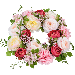 Spring wreaths and garlands