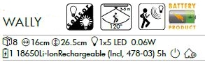 LED-Solar-Wandleuchte Wally, stainless steel, ca. 26,5x16 cm