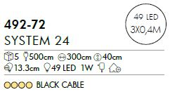 System 24 LED-Icicle 1 x 2 m, 98-L - Extra ab 28,7 EUR