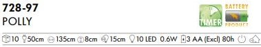 LED-Party-Kette Polly 10tlg Hasen ab 7,5 EUR